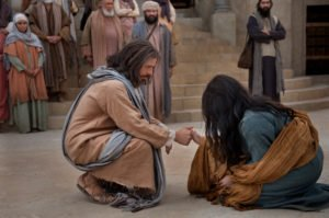 Jesus and a woman taken in adultery