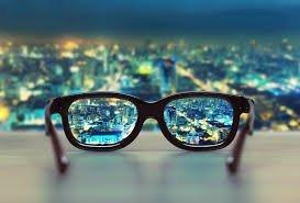 Glasses improving vision