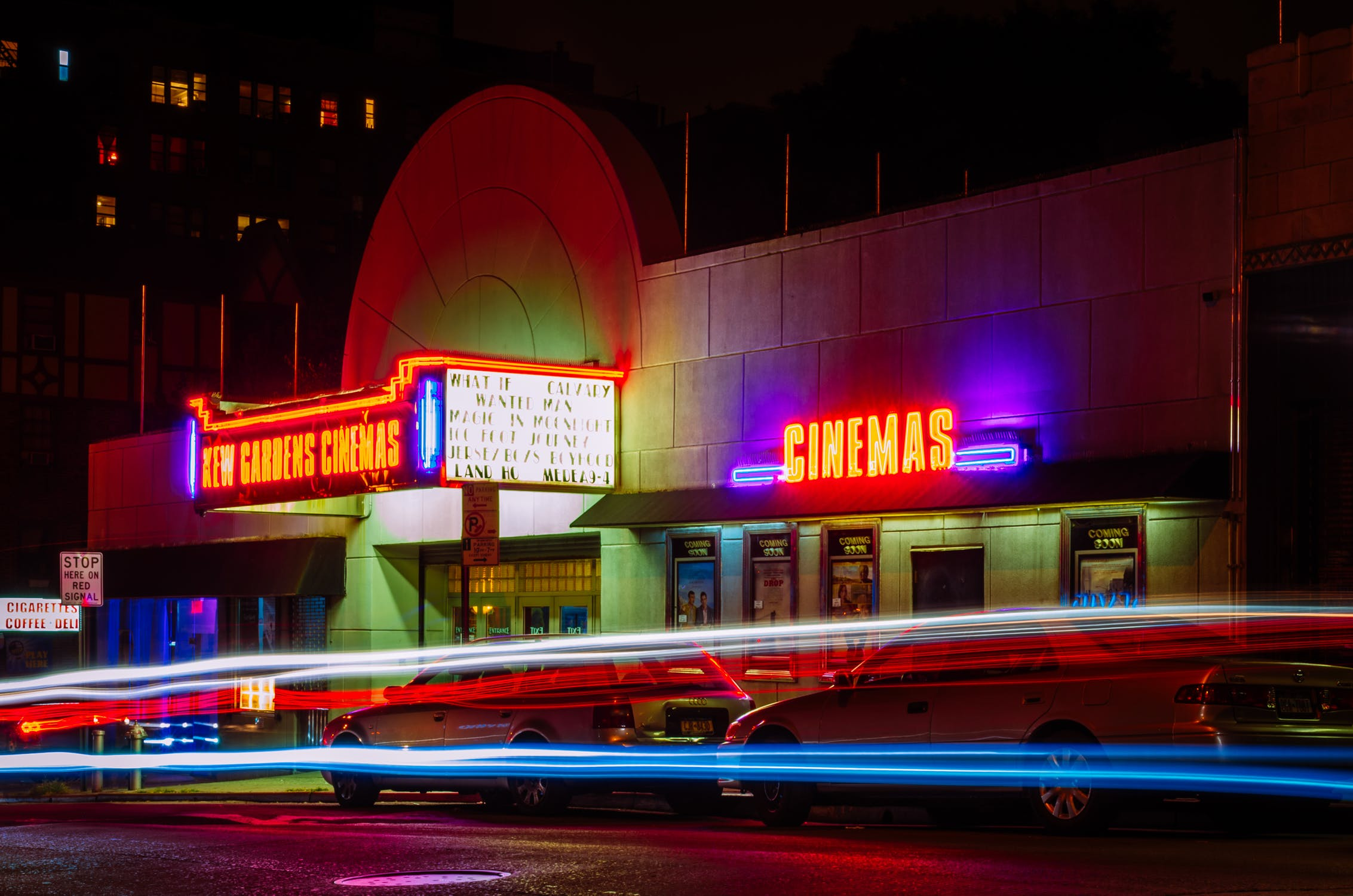 movie cinema at night